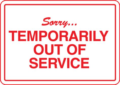 Out Of Order Snookerhq Out Of Service Sign Template