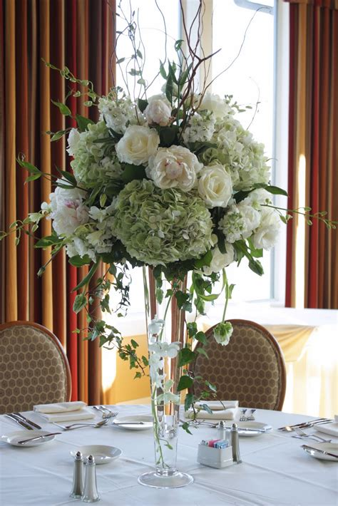 Centerpieces Wedding Flowers by Blush Floral Design White Wedding