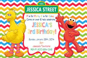 sesame invitation template sesame birthday invitations ideas all invitations