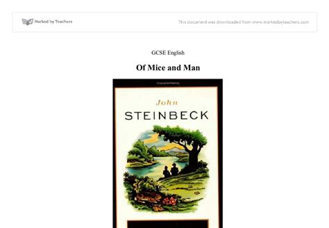 themes john steinbeck focused on of mice and men this essay is going to focus on the