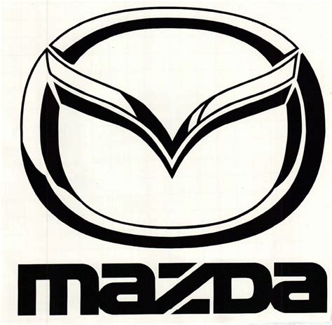 mazda emblem window car vehicle mazda logo vinyl decal sticker ebay