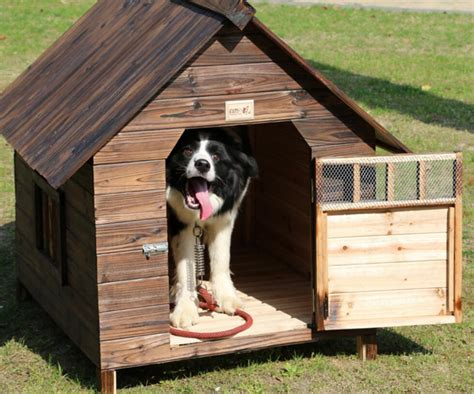 dog house for sale hot sale kennel outdoor balcony carbonized fir anti