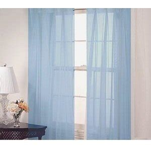 Pair Of Baby Blue Sheer Panel Window Treatment Curtains Ebay