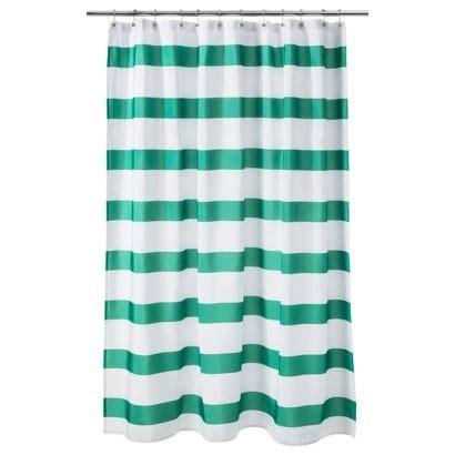 target room essentials shower curtain room essentials 174 rugby stripe shower curtain green