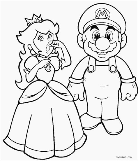 printable princess peach coloring pages for kids cool2bkids