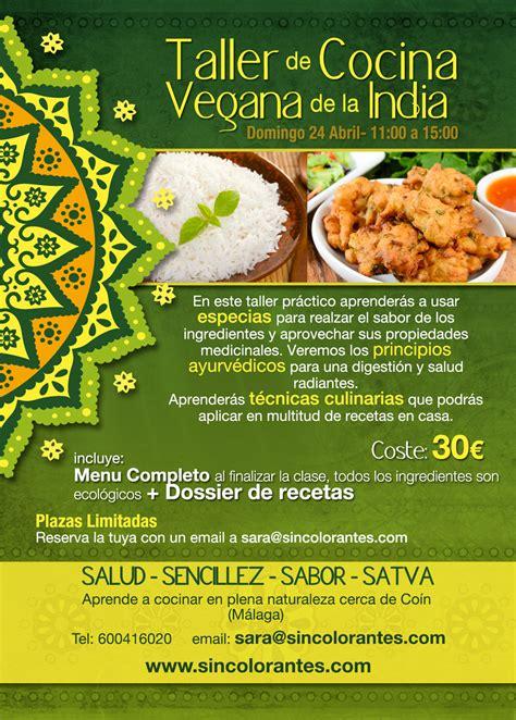 talleres cocina talleres de cocina india vegana sincolorantes