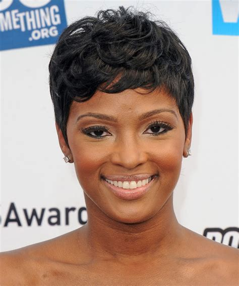 hot atlanta short hairstyles ariane davis short straight casual hairstyle with side