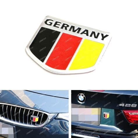 audi germany flag 1 germany black red yellow flag badge for german cars