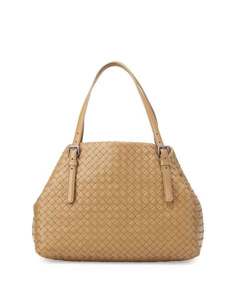 Bottega Veneta Medium Canvas Handbag by Bottega Veneta Veneta Medium Ashaped Tote Bag In Beige