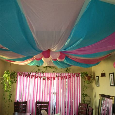ceiling decorations decorate for parties pinterest birthday party ceiling decor happy birthday princess abi