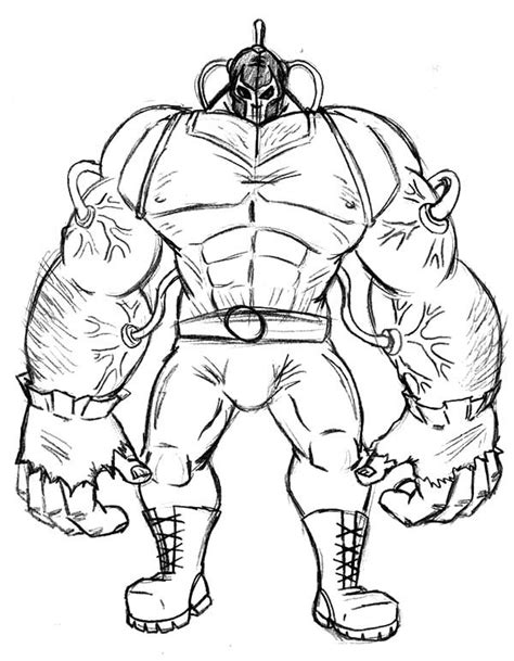 bane  batman  coloring pages