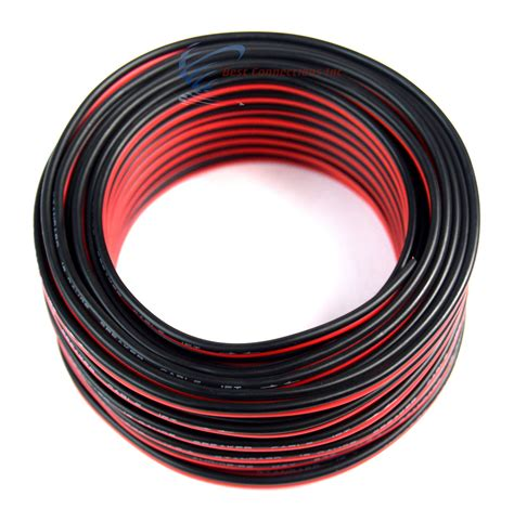 18 50 speaker wire copper clad black zip cable