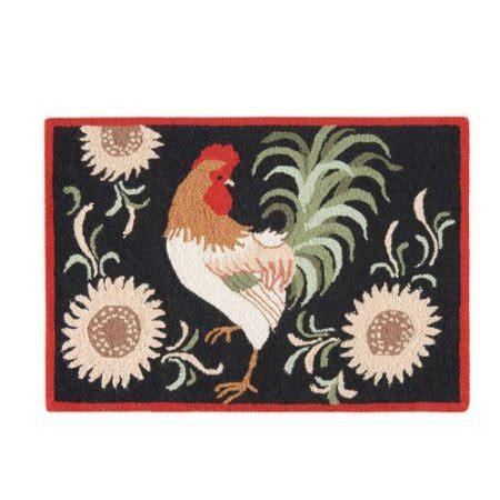 c f enterprises hooked rugs harvest rooster hooked rug 2 x 3 c f enterprises