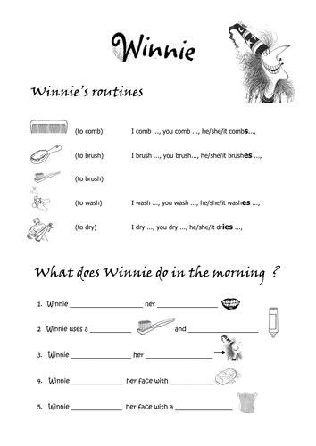 daily routines winnie  witch  strawberry girl