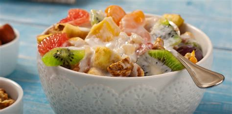 fruit yogurt salad fruit salad with yogurt honey lime dressing yogurt in