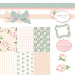 shabby chic digital scrapbook paper pack pink and blue