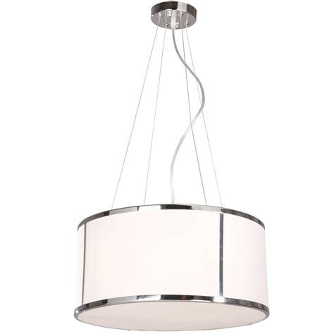 hton bay newborough 5 light chrome with white shade