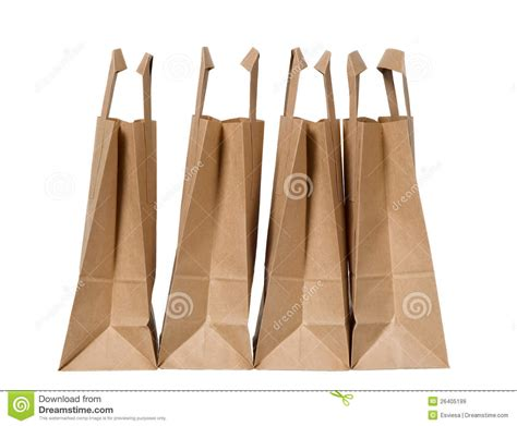 How To Make Organic Paper - many organic green paper bags royalty free stock images