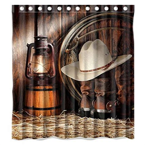 rodeo shower curtain custom american west rodeo cowboy waterproof polyester