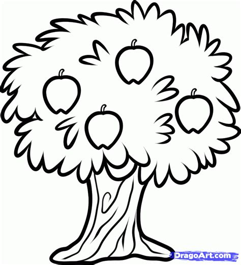 scribble doodle draw how to draw a fruit tree step by step trees pop culture