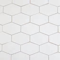 kiln ceramic white 5 quot x3 quot stretched hex tile milk