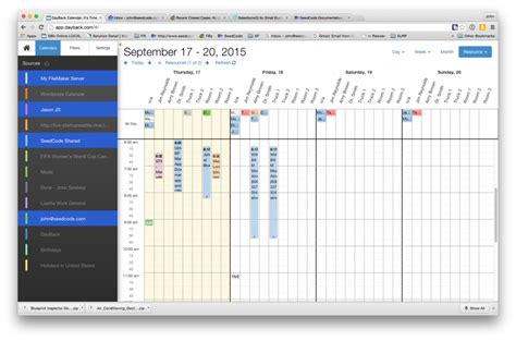 orgscheduler pro a complete calendar and scheduling new resource scheduling grid for filemaker seedcode