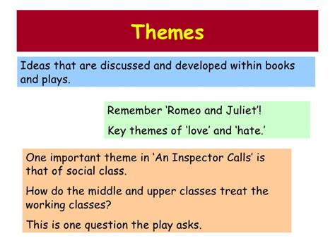important themes in an inspector calls aic pp2