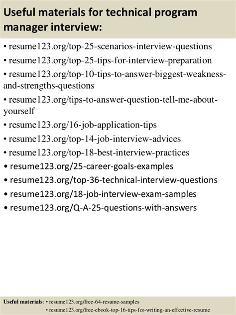Technical Program Manager Resume by Top 8 Technical Program Manager Resume Sles
