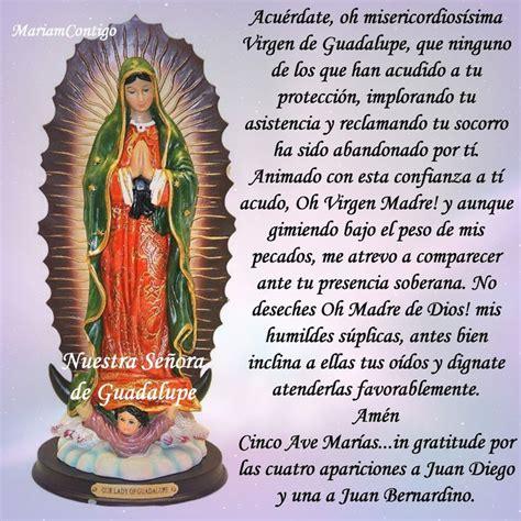 imagenes virgen de guadalupe con oracion m 225 s de 25 ideas incre 237 bles sobre oracion virgen guadalupe