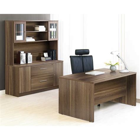 Unique Home Office Furniture Unique Furniture 100 Series Walnut Executive Office Desk With Credenza Je1c100009mwl