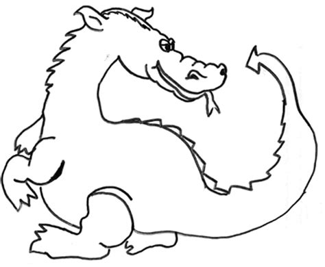 baby dragon cartoon coloring pages