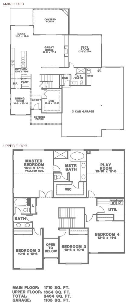 hunting c floor plans hunter 11 3444 sq ft 3 car hunter homes building