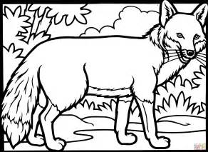 fox coloring fox coloring page free printable coloring pages