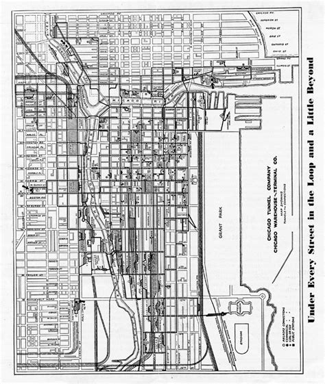 chicago map 1920 the chicago freight tunnels context