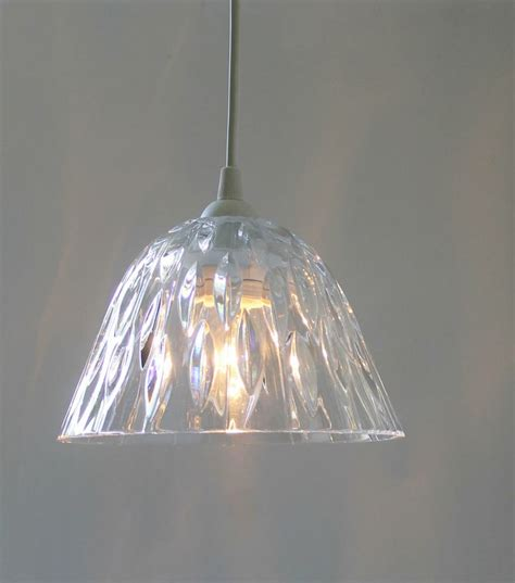 Pendant Light With Crystals Light Hanging Pendant Lighting Fixture Upcycled Vintage Clear Glass Teardrop