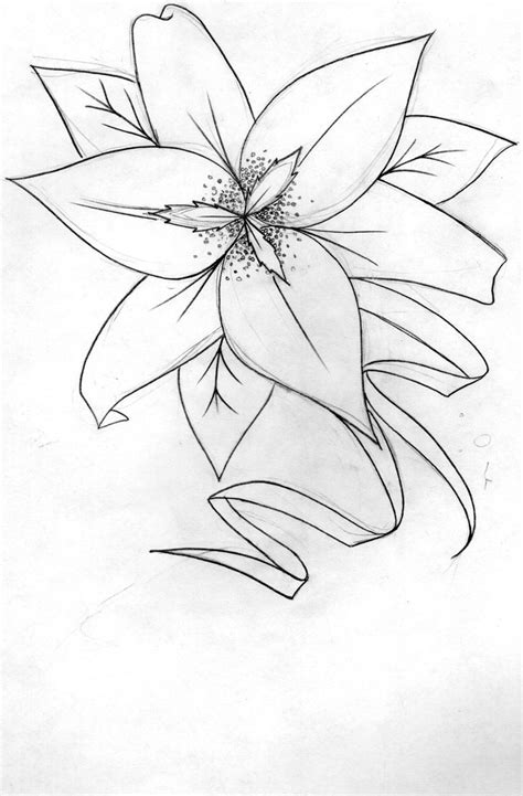 lily tattoo design by tattoo vandal on deviantart