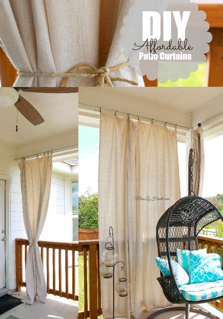 diy cheap easy patio curtains everything can be found