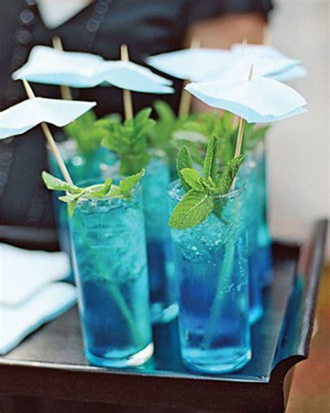 Signature Cocktails For Bridal Shower by Blue Bridal Shower Ideas Trueblu
