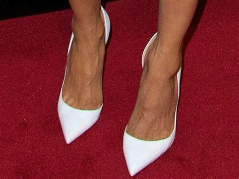 In Thandie Newtons Closet Mcqueen Pumps by Uma Thurman Matches New Bare Faced Look With Barely There