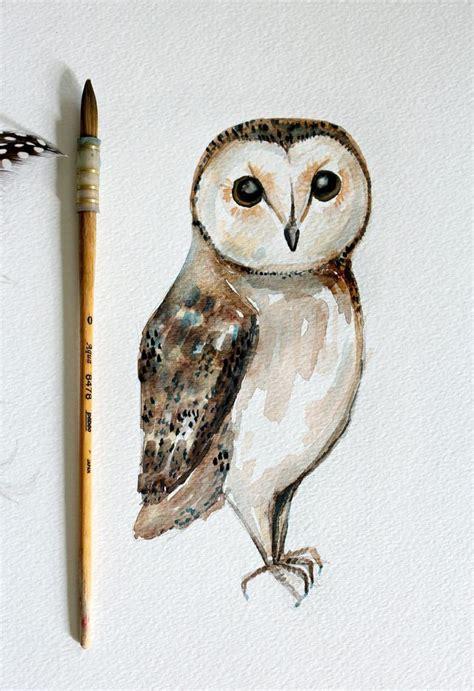 water color owl diy owl watercolor painting simple watercolor