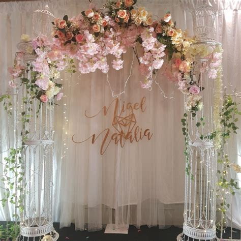 Wedding Backdrop With Names by Wedding Decoration Flowers Names Choice Image Wedding