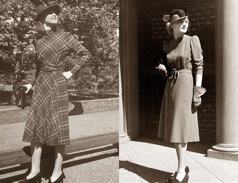 1930s fashion women s dress and hairstyles glamourdaze 1930s fashion fall styles for 1938 glamourdaze