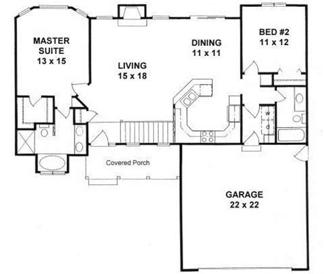 2 Bed 2 Bath House Plans by Luxury Two Bedroom Two Bath House Plans New Home Plans