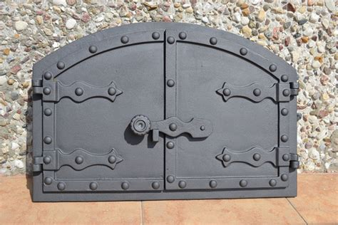 535 x 358mm cast iron fire door clay bread oven pizza stove smoke house ebay