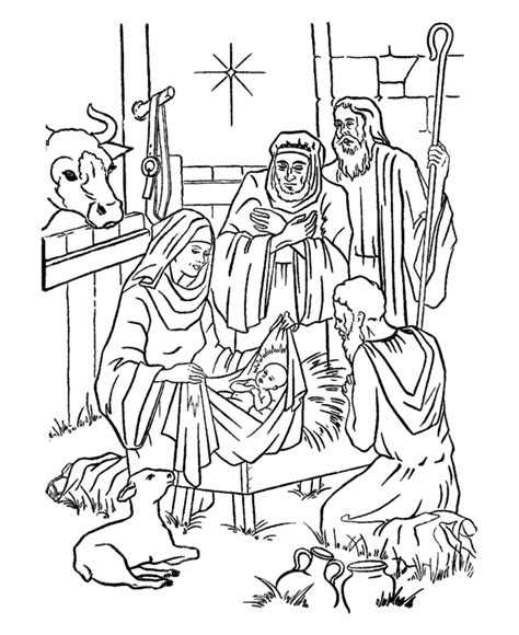 free coloring pages of baby jesus in the manger