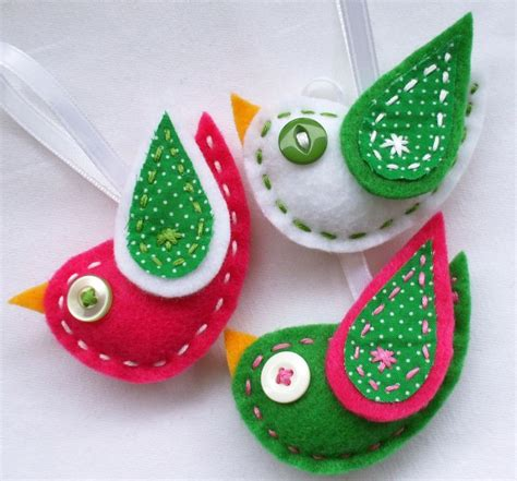 christmas dove ornament christmas felt craft pinterest