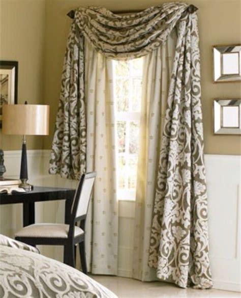 bedroom swag curtains 17 best window treatments images on pinterest curtains
