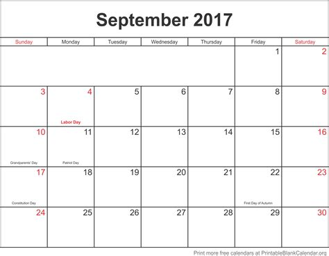 printable monthly calendar september 2017 september 2017 monthly calendar printable blank calendar org