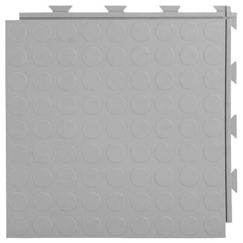 Plastic Garage Floor Tiles Greatmats Hiddenlock Coin Top 1 Ft X 1 Ft X 1 4 In Gray Pvc Plastic Interlocking Garage Floor