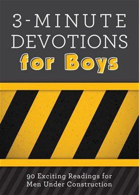 libro 3 minute devotions for boys 3 minute devotions for boys